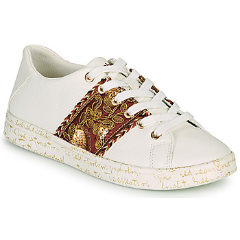 Sapatos Mulher Sapatilhas Desigual COSMIC EXOTIC LETTERING Branco