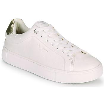 Sapatos Mulher Sapatilhas Pepe jeans ADAMS MOLLY Branco / Ouro