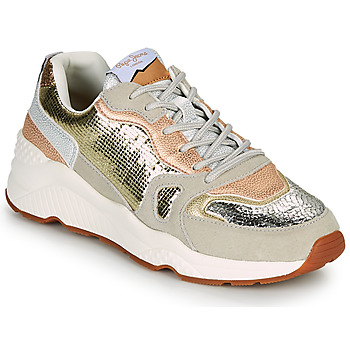 Sapatos Mulher Sapatilhas Pepe jeans HARLOW GOLDEN Bege / Ouro