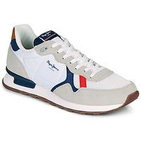 Sapatos Homem Sapatilhas Pepe jeans BRITT MAN BASIC Branco / Bege