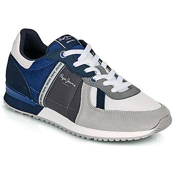 Sapatos Homem Sapatilhas Pepe jeans TINKER ZERO 21 Cinza / Azul