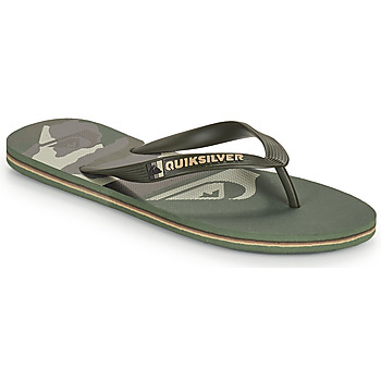 Sapatos Homem Chinelos Quiksilver MOLOKAI PANEL Cáqui