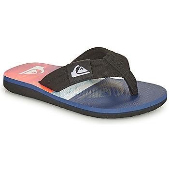 Sapatos Criança Chinelos Quiksilver MOLOKAI LAYBACK YOUTH Azul / Laranja / Preto