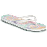 Sapatos Mulher Chinelos Roxy TAHITI VII Branco / Rosa