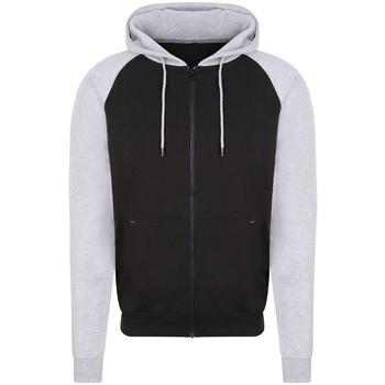 Textil Homem Sweats Awdis JH063 Jet Black/Heather Grey