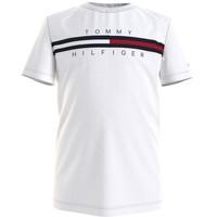 Textil Rapaz T-Shirt mangas curtas Tommy Hilfiger KB0KB06532-YBR Branco