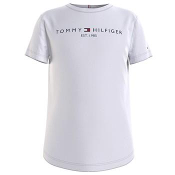 Textil Rapariga T-Shirt mangas curtas Tommy Hilfiger KG0KG05242-YBR Branco