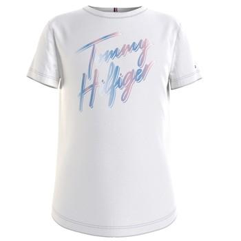 Textil Rapariga T-Shirt mangas curtas Tommy Hilfiger KG0KG05870-YBR Branco