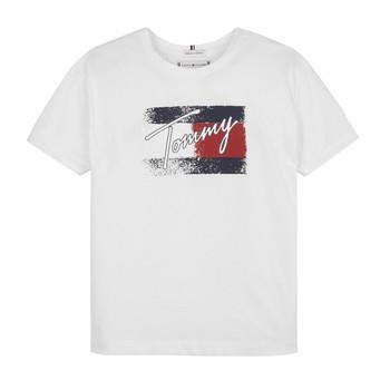 Textil Rapariga T-Shirt mangas curtas Tommy Hilfiger MONCHE Branco