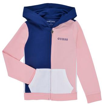 Textil Rapariga Sweats Guess K1RQ00-KA6R0-F672 Branco / Rosa