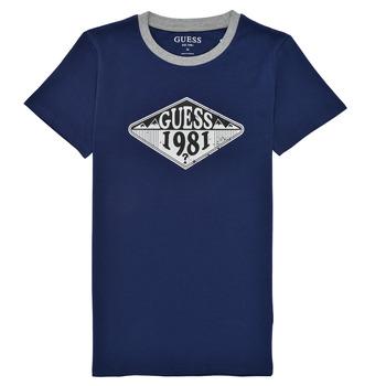 Textil Rapaz T-Shirt mangas curtas Guess L1GI09-K8HM0-DEKB Marinho