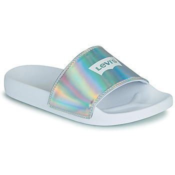 Sapatos Mulher chinelos Levi's JUNE BATWING S Prata