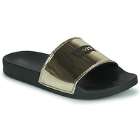 Sapatos Mulher chinelos Levi's JUNE BATWING S Ouro / Preto