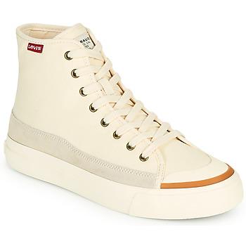 Sapatos Mulher Sapatilhas de cano-alto Levi's SQUARE HIGH S Branco