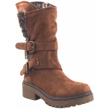 Sapatos Mulher Botas baixas Olivina Bota de senhora BEBY 19030 em couro Castanho