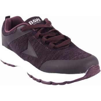 Sapatos Mulher Sapatilhas B&w Sapato feminino  28113 bordeaux Vermelho