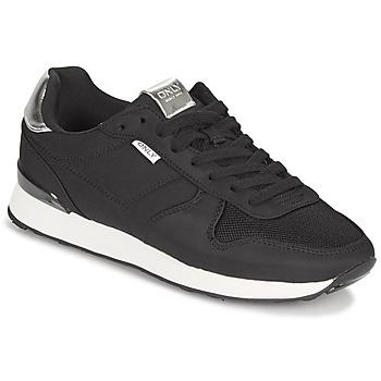 Sapatos Mulher Sapatilhas Only SAHEL 4 Preto / Prata