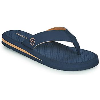 Sapatos Homem Chinelos Isotoner TAMARA Marinho / Conhaque