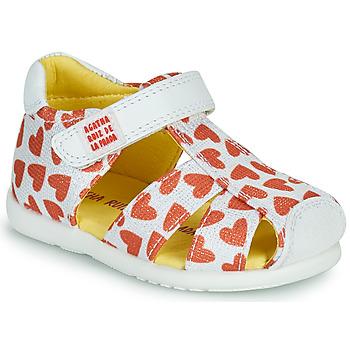 Sapatos Rapariga Sandálias Agatha Ruiz de la Prada HAPPY Branco / Vermelho