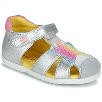 Sapatos Rapariga Sandálias Agatha Ruiz de la Prada HAPPY Prata