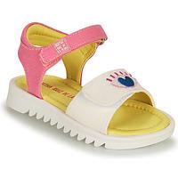 Sapatos Rapariga Sandálias Agatha Ruiz de la Prada SMILEY Branco / Rosa