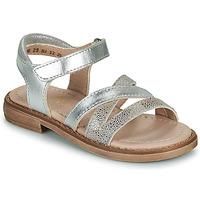 Sapatos Rapariga Sandálias Aster TESSIA Prata