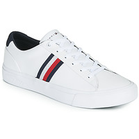 Sapatos Homem Sapatilhas Tommy Hilfiger CORPORATE LEATHER SNEAKER Branco