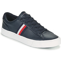 Sapatos Homem Sapatilhas Tommy Hilfiger CORPORATE LEATHER SNEAKER Marinho