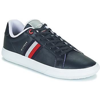 Sapatos Homem Sapatilhas Tommy Hilfiger ESSENTIAL LEATHER CUPSOLE Marinho