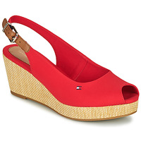 Sapatos Mulher Sandálias Tommy Hilfiger ICONIC ELBA SLING BACK WEDGE Laranja
