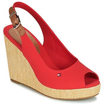 Sapatos Mulher Sandálias Tommy Hilfiger ICONIC ELENA SLING BACK WEDGE Laranja