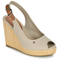 Sapatos Mulher Sandálias Tommy Hilfiger ICONIC ELENA SLING BACK WEDGE Toupeira