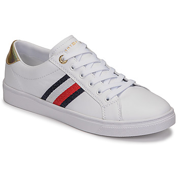 Sapatos Mulher Sapatilhas Tommy Hilfiger TH CORPORATE CUPSOLE SNEAKER Branco