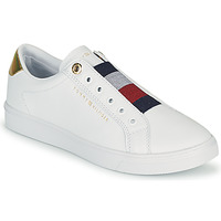 Sapatos Mulher Sapatilhas Tommy Hilfiger TH ELASTIC SLIP ON SNEAKER Branco