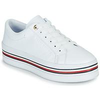 Sapatos Mulher Sapatilhas Tommy Hilfiger CORPORATE FLATFORM CUPSOLE Branco