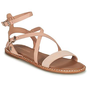 Sapatos Mulher Sandálias Tommy Hilfiger ESSENTIAL TOMMY FLAT SANDAL Conhaque