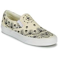 Sapatos Slip on Vans CLASSIC SLIP ON Bege / Preto