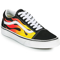 Sapatos Sapatilhas Vans OLD SKOOL Preto / Laranja