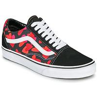 Sapatos Mulher Sapatilhas Vans OLD SKOOL Preto / Vermelho