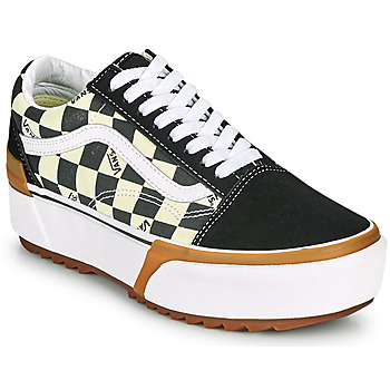 Sapatos Mulher Sapatilhas Vans OLD SKOOL STACKED Preto / Branco
