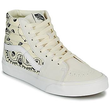Sapatos Sapatilhas de cano-alto Vans SK8 HI Bege / Preto