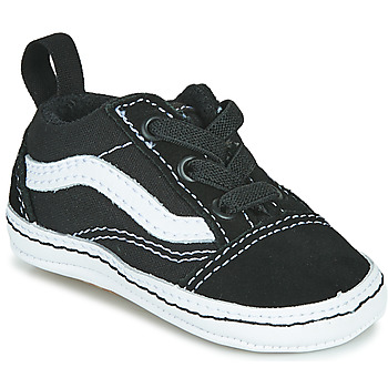 Sapatos Criança Sapatilhas Vans OLD SKOOL CRIB Preto / Branco