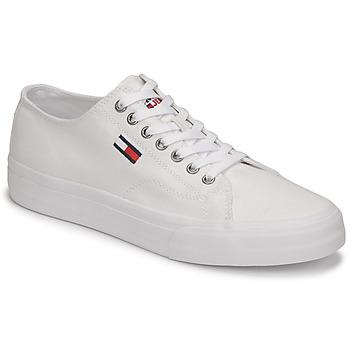 Sapatos Homem Sapatilhas Tommy Jeans LONG LACE UP VULC Branco