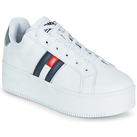 Sapatos Mulher Sapatilhas Tommy Jeans IRIDESCENT ICONIC SNEAKER Branco