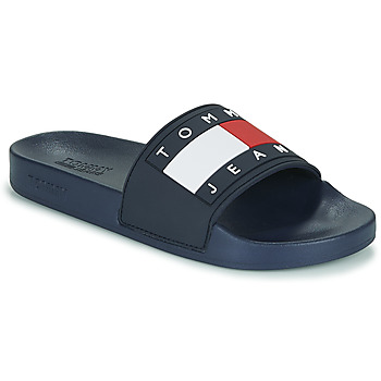 Sapatos Mulher chinelos Tommy Jeans TOMMY JEANS FLAG POOL SLIDE Azul