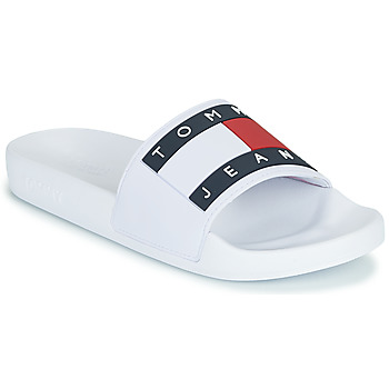 Sapatos Mulher chinelos Tommy Jeans TOMMY JEANS FLAG POOL SLIDE Branco