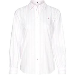 Textil Mulher camisas Tommy Hilfiger WW0WW27371 Rosa