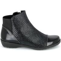 Sapatos Mulher Botas baixas Boissy 8081 Noir Preto