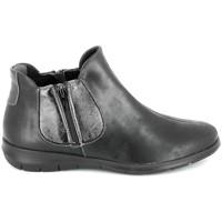 Sapatos Mulher Botas baixas Boissy 66000 Noir Preto