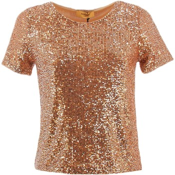 Textil Mulher Tops / Blusas Markup 86312 Blusas mulher Ouro Ouro